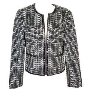 MICHAEL KORS | Tweed Patent Leather Zip Blazer 2